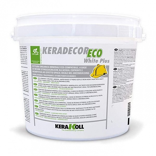 KERADECOR ECO WHITE PLUS lt.14 - 22924 - KERAKOLL kerakoll