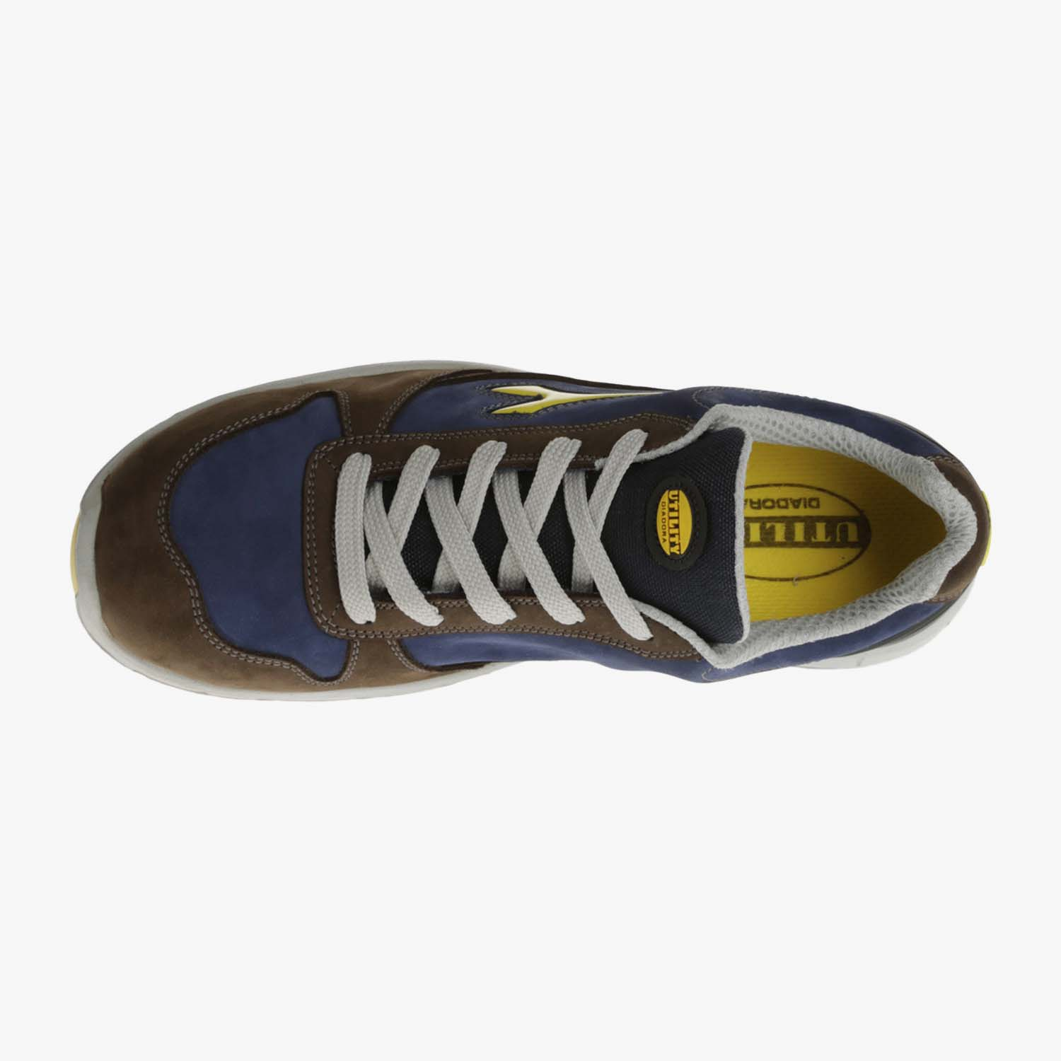 SCARPA DIADORA RUN LOW S3 MARRONE SCURO E BLU
